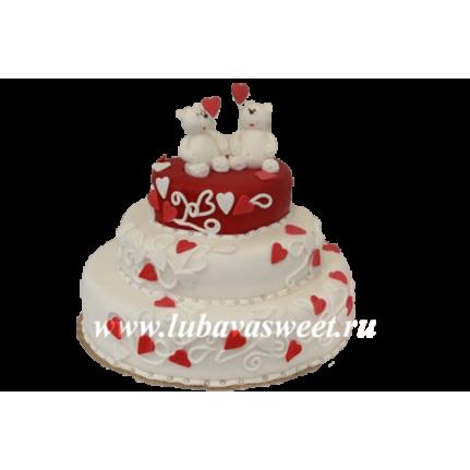 Торт праздничный влюбленные мишки №228
