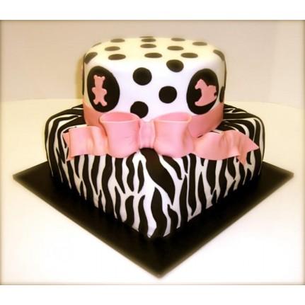 Торт черно-белый №830