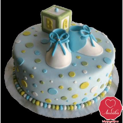Торт на рождение мальчика №834