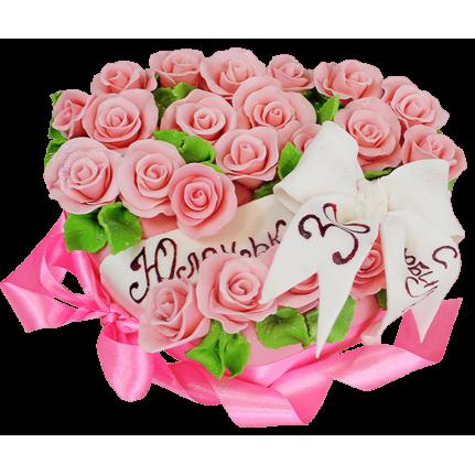 Торт букет цветов №161