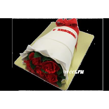 Торт букет роз №596