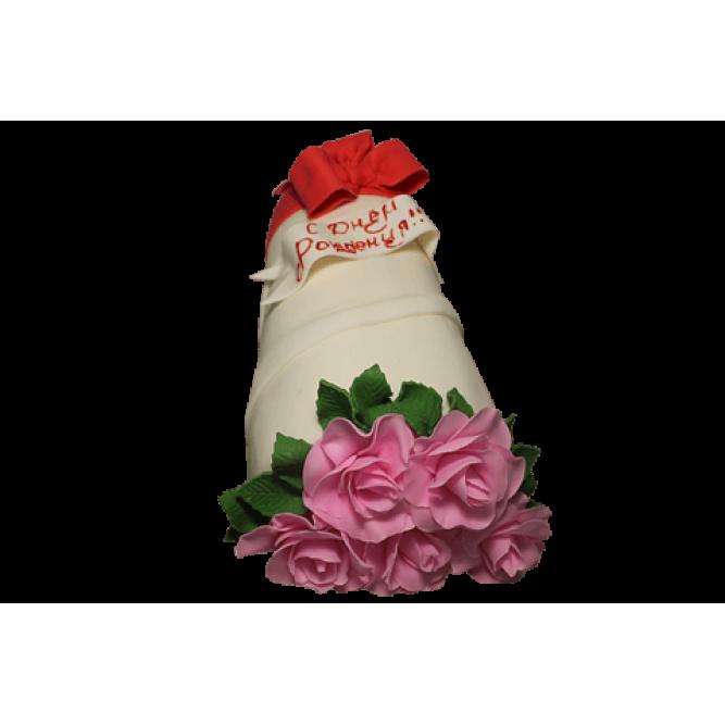 Торт Букет из красных роз №446
