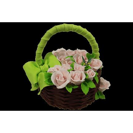 Торт Корзина с розами №568