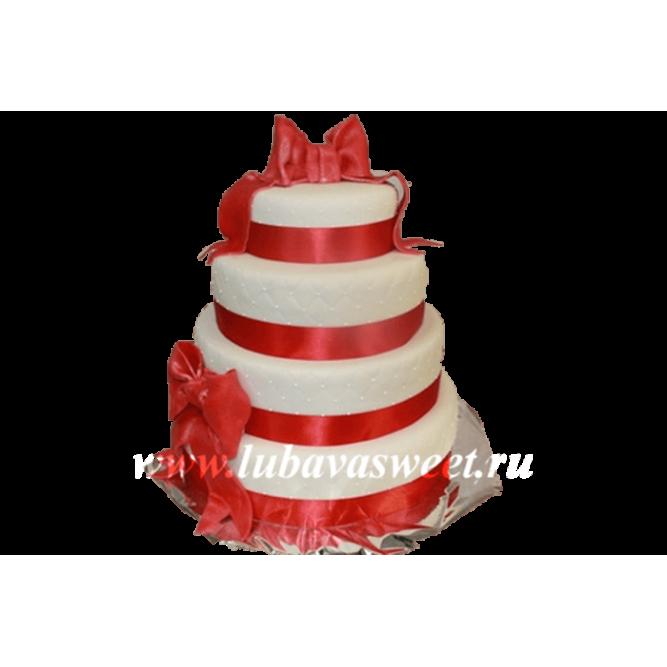 Торт с бантами №243