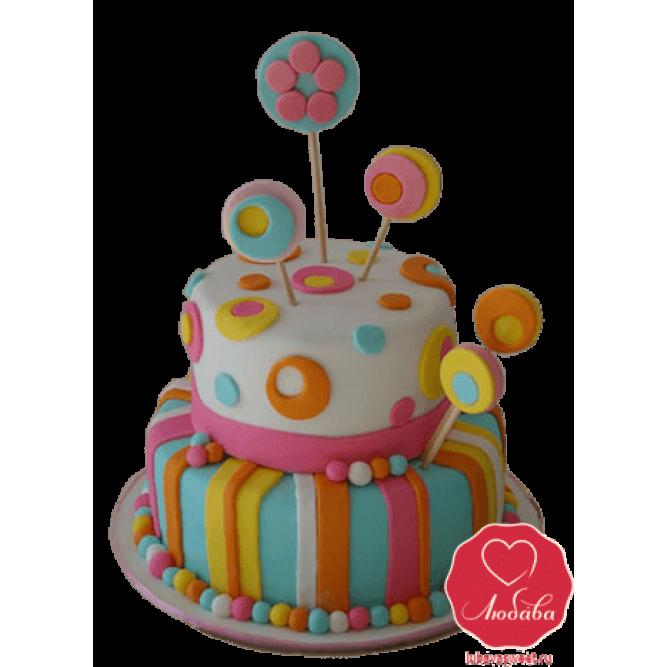 Торт Детский яркий №736