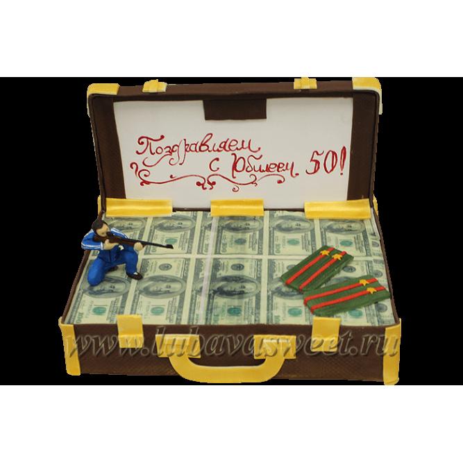 Торт чемодан с баксами №138