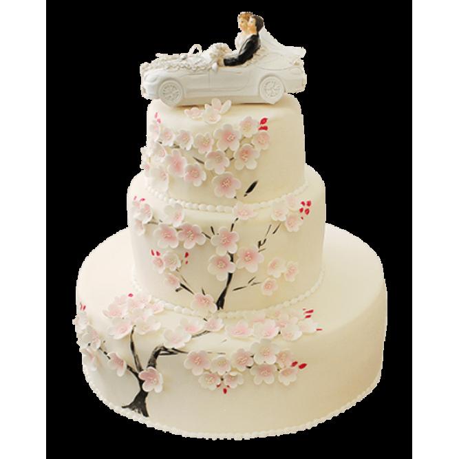 Торт свадебный кабриолет №401
