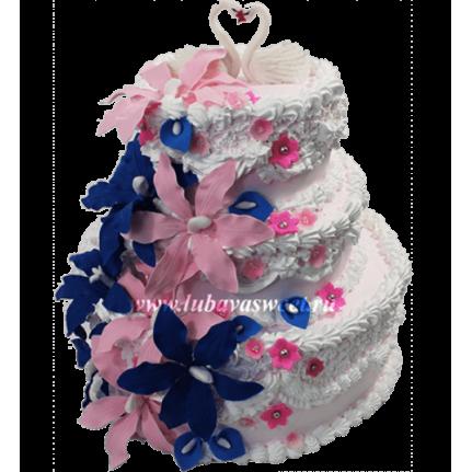 Торт свадебный с лебедями №663