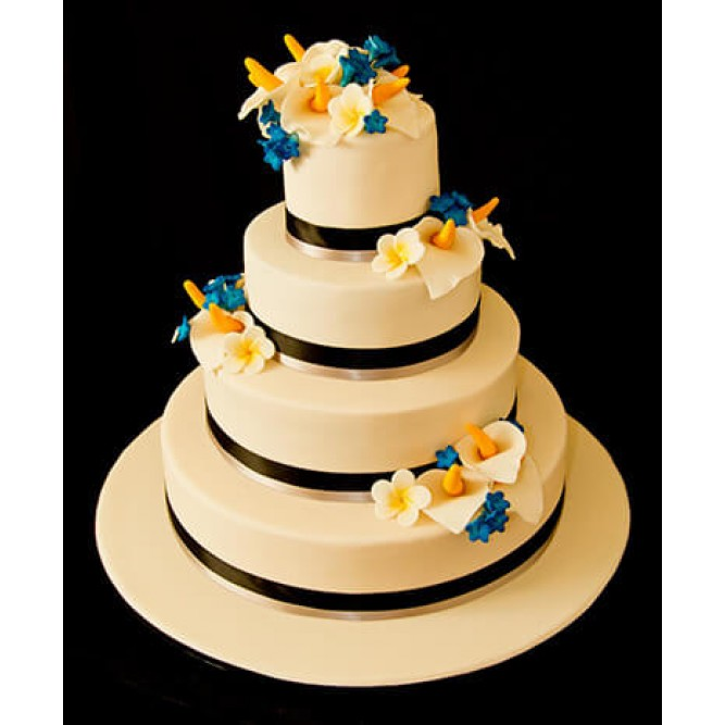 Торт свадебный с каллами №753