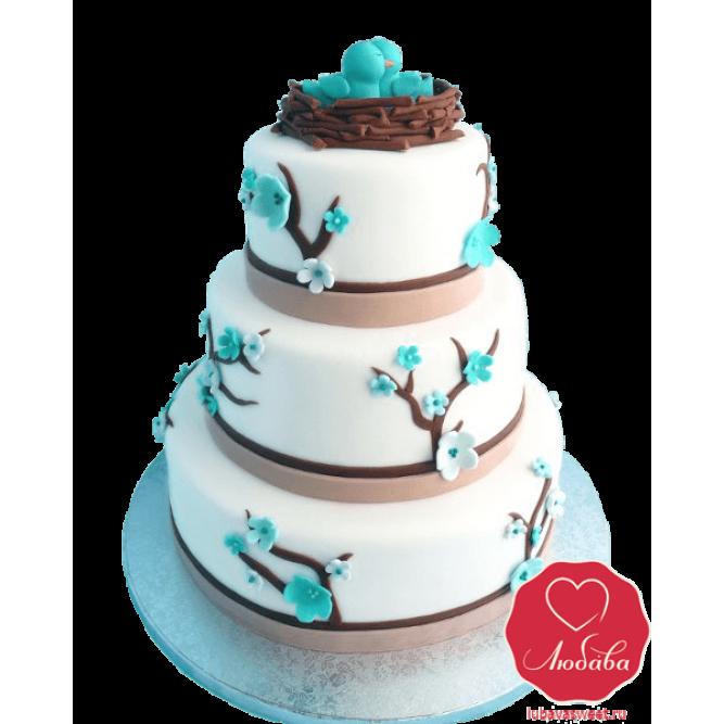 Торт цветы сакуры №825