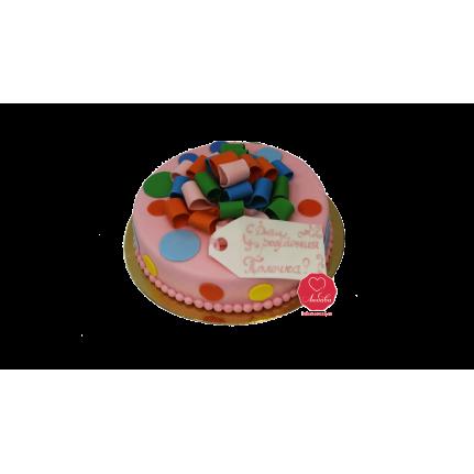 Торт детский с бантиком №966