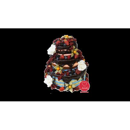 Торт Шоколадно ягодные коржи №1100