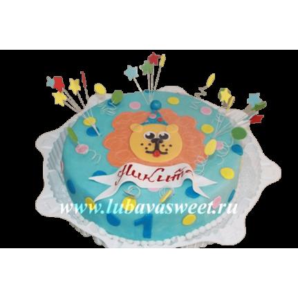 Торт детский цирковой лев №246