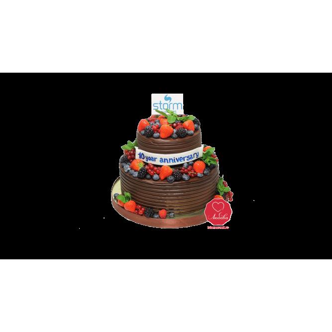 Торт Корпоративный с ягодами №1090