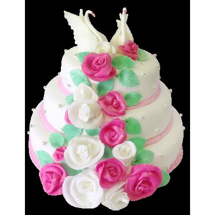 Торт свадебный Влюбленная пара №306