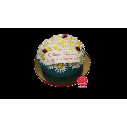 Торт с ромашками и божьими коровками №1007