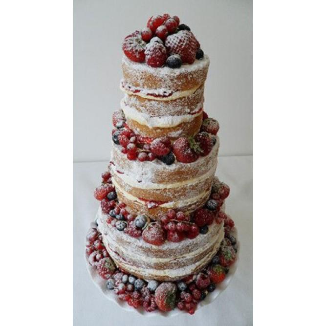 Торт украшенный ягодами №721