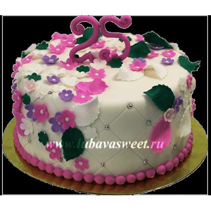 Торт нежные цветы №644