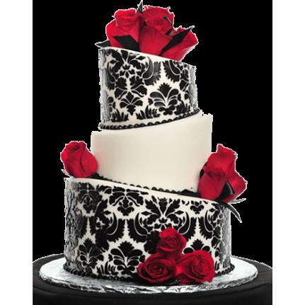 Торт свадебный дизайнерский с розами №740