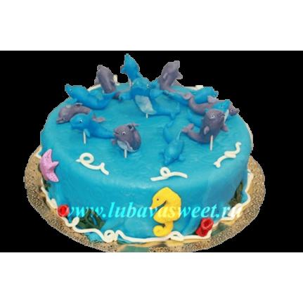 Торт дельфины №231