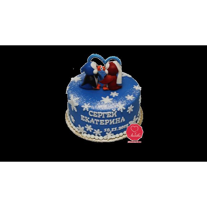 Торт Влюбленные пингвины №1042