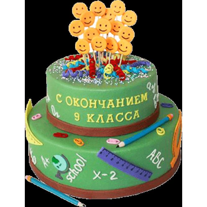 Торт С окончанием 9 класса №594