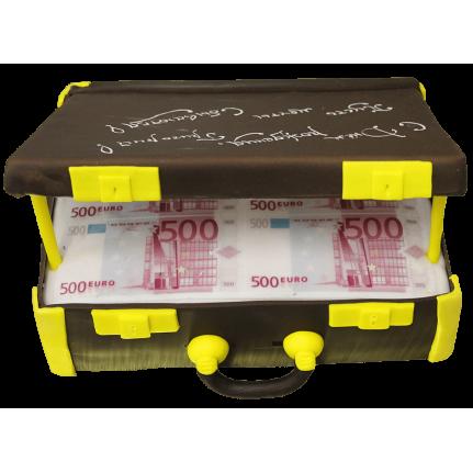 Торт праздничный чемодан с евро №153