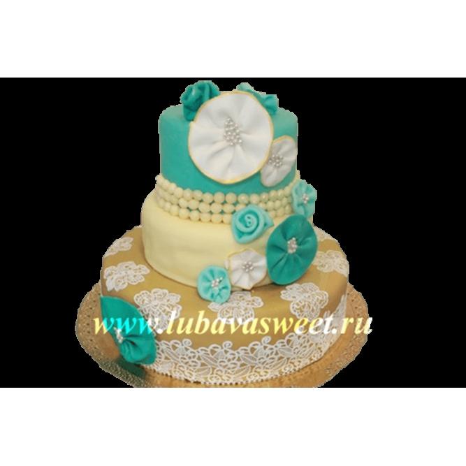 Торт праздничный зонтики №205