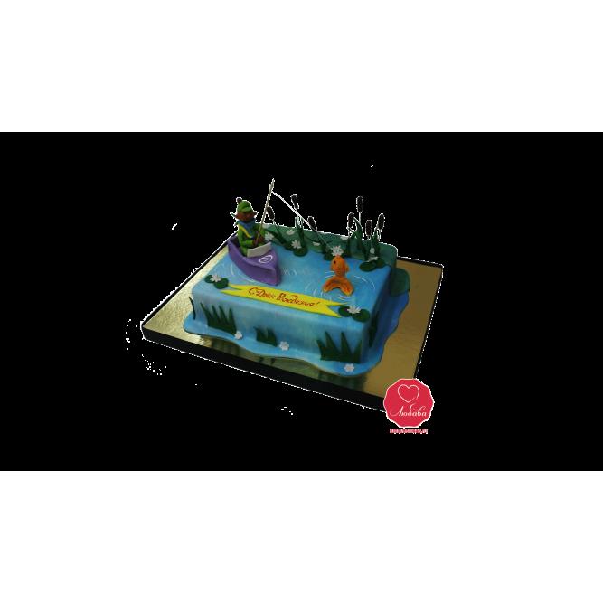 Торт Рыбак в лодке №949