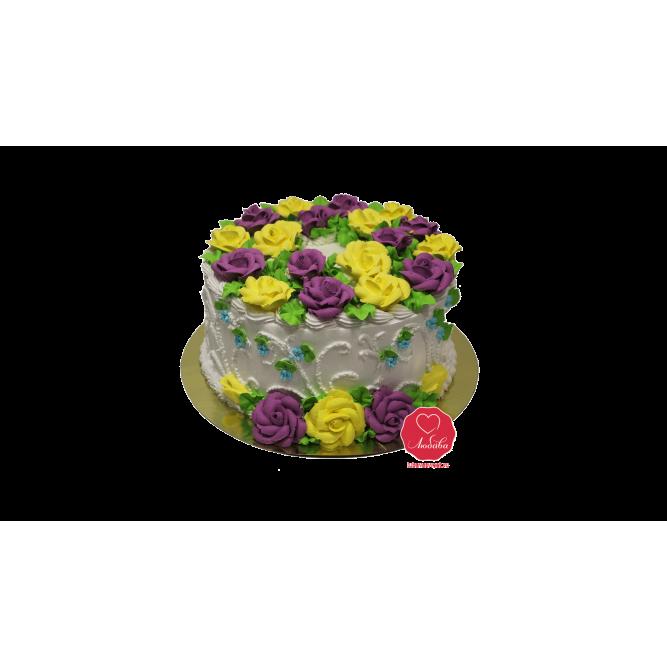 Торт Цветочный №1017