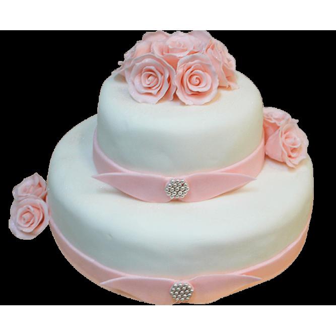 Торт Свадебный Цветы №142