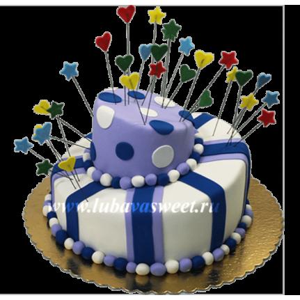 Торт ассиметричный на День рождения №598