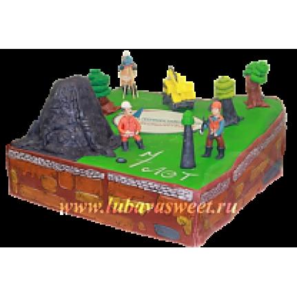 Торт корпоративный геологи №202