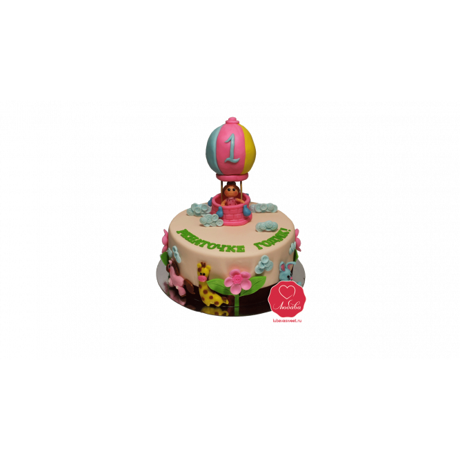 Торт Девочка на воздушном шаре №1060