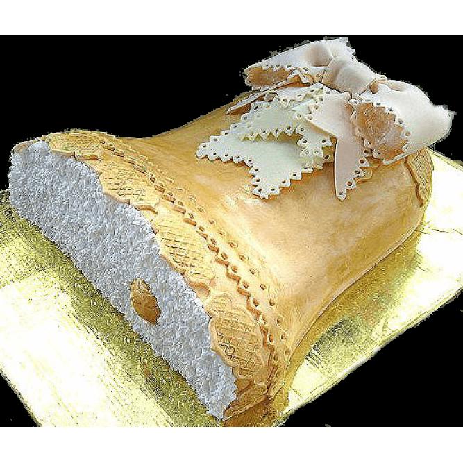 Торт Золотой колокольчик с бантиком №578