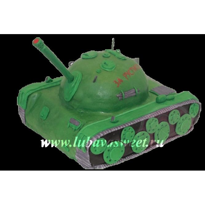 Торт танк зеленый №227