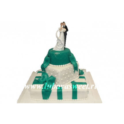Торт свадебный счастливая пара №234