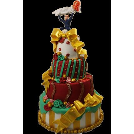 Торт свадебный Счастливая свадьба №657