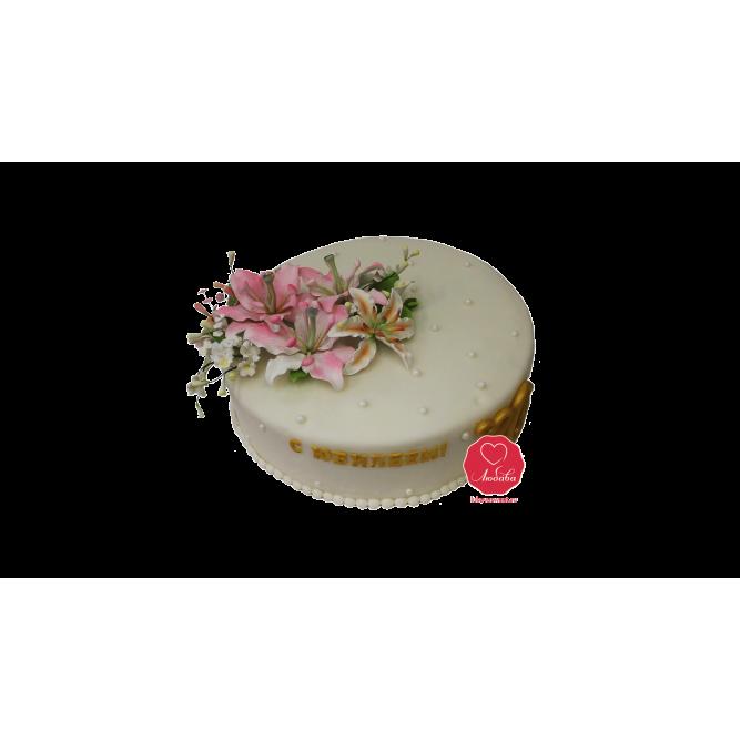 Торт Праздничные Лилии №1004