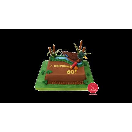 Торт Охотнику с птицей №976