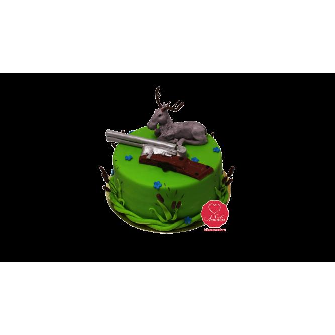 Торт Охотничий с винтовкой №1116