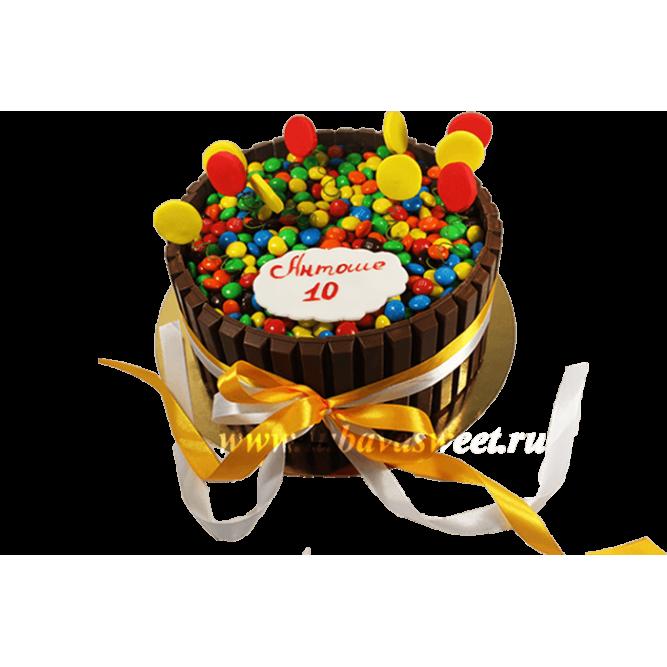 Торт Разноцветные драже №599