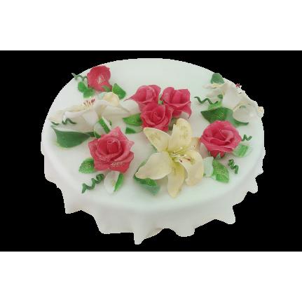 Торт Лилии и розы №354