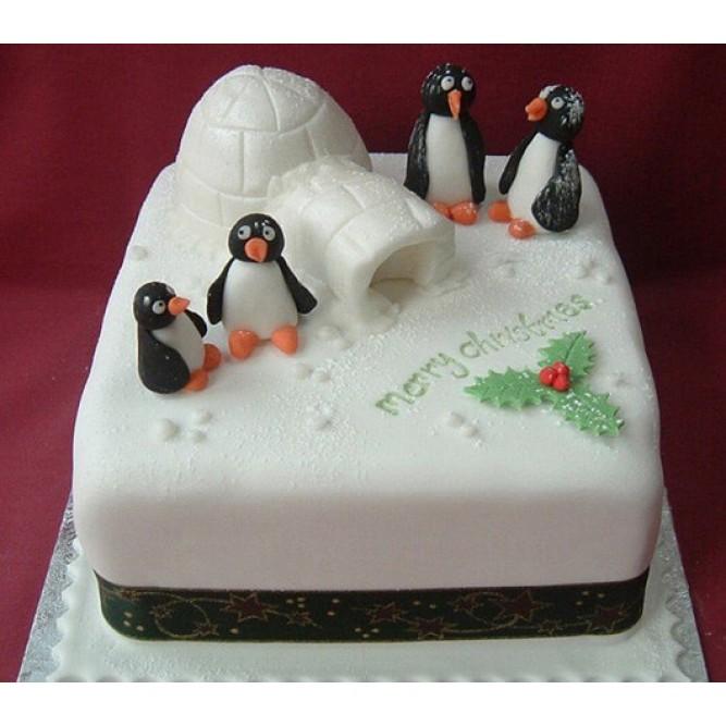 Торт с пингвинами №743