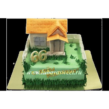 Торт домик №615