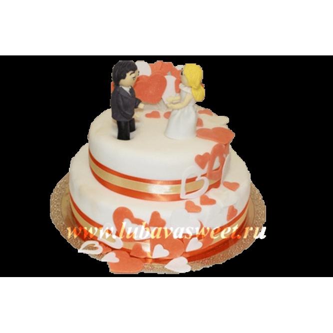 Торт свадебный влюбленная пара №245
