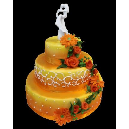 Торт свадебный Влюбленные сердца №308