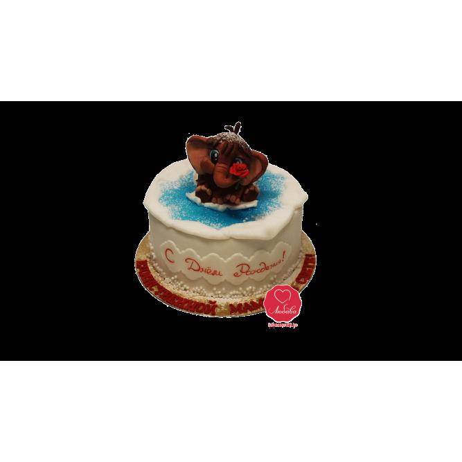 Торт Мамонтенок на льдине №1033