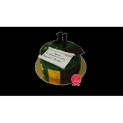 Торт Военная форма с запиской №1039
