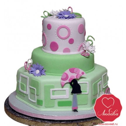 Торт Модерн на День рождения №819